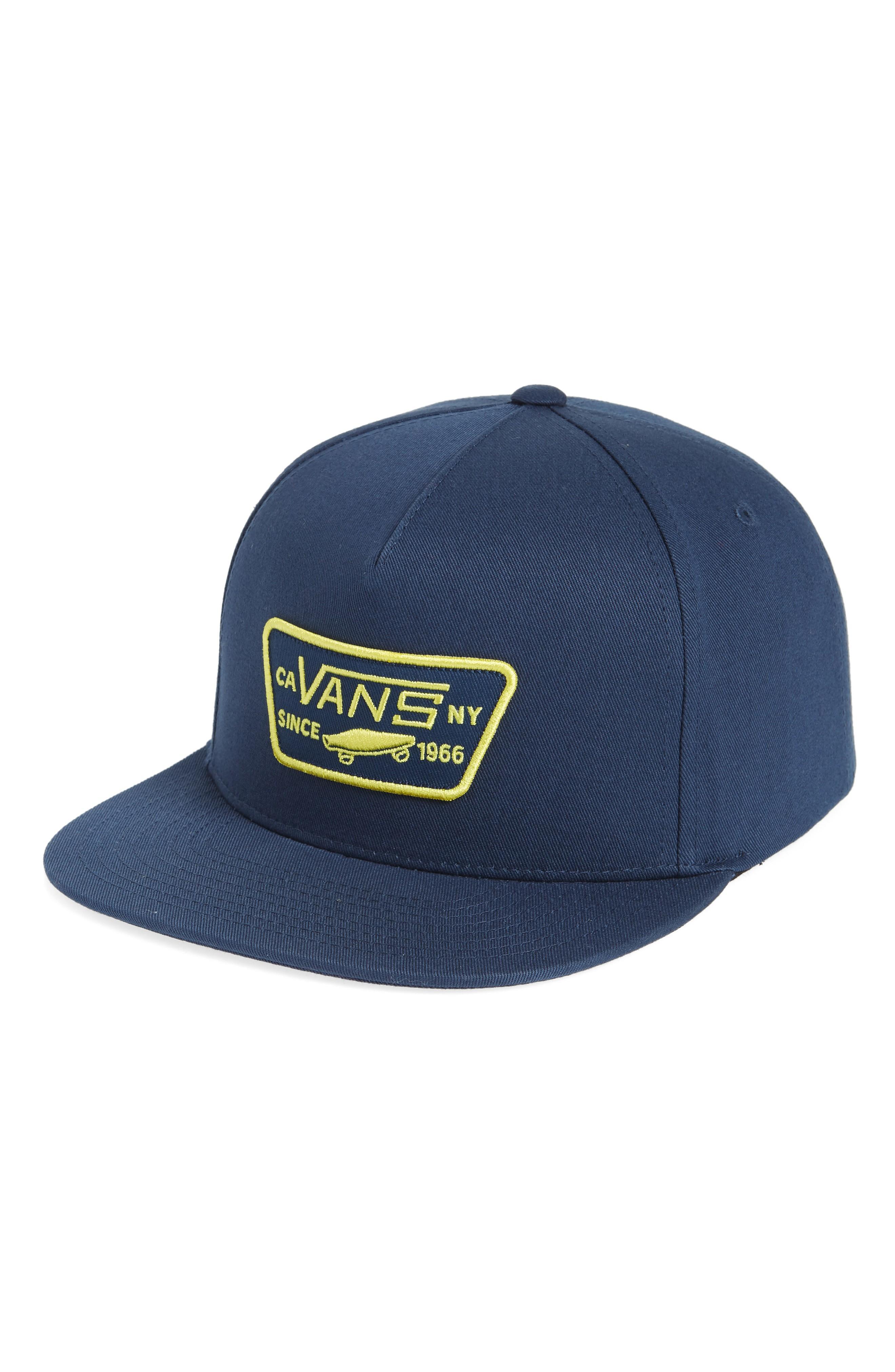 Vans 'full Patch' Snapback Hat - Blue In Dress Blues/ Green Sheen