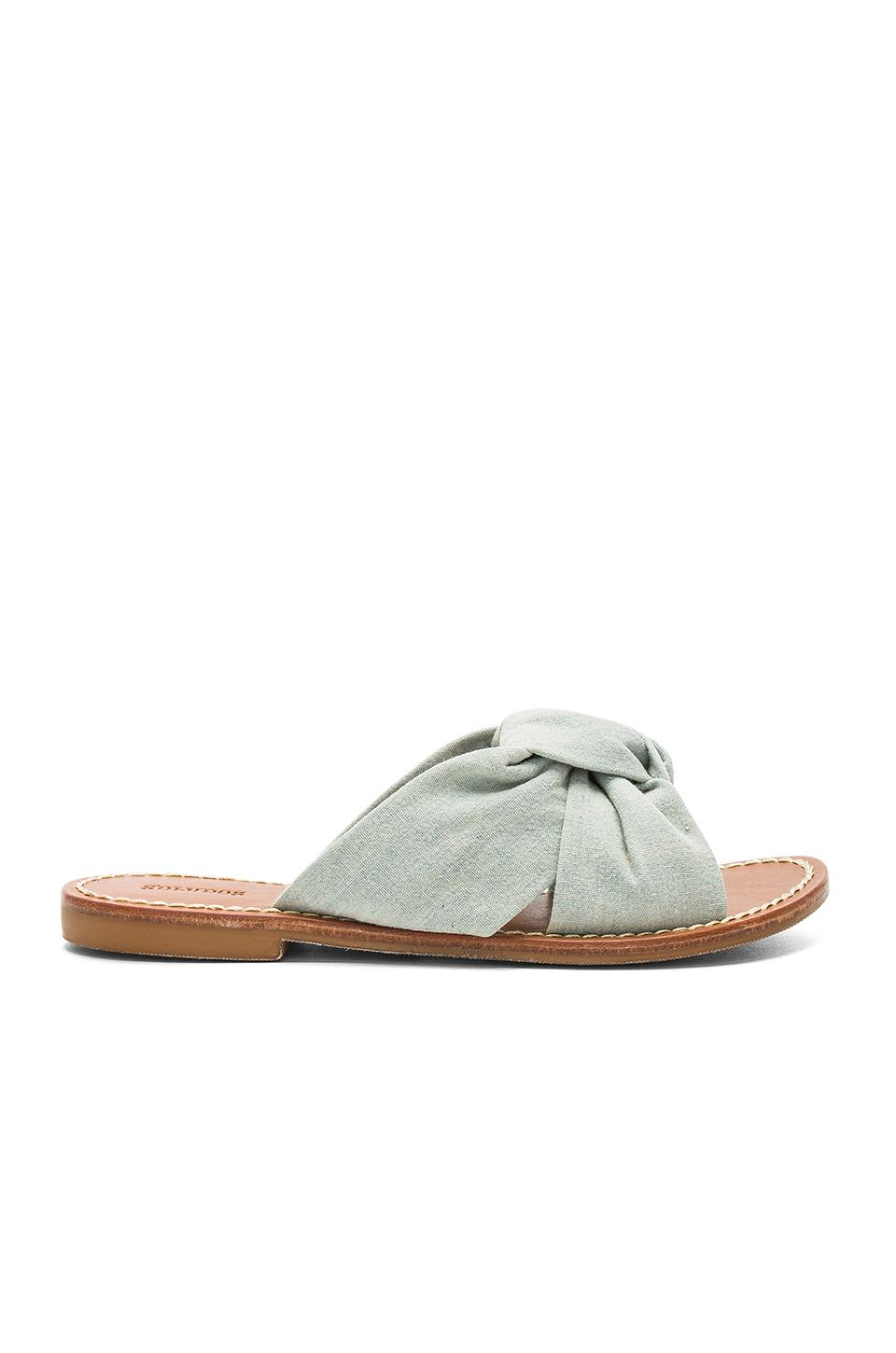 Soludos Knotted Slide Sandal In Chambray