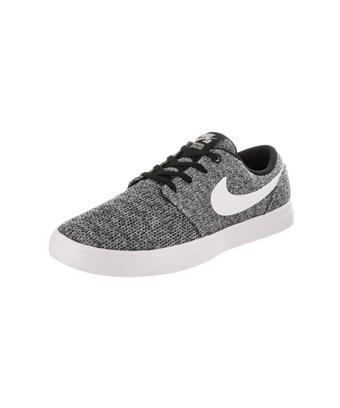 Nike Men's Sb Portmore Ii Ultralight Skate Shoe In Black/white/wolf Grey