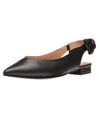 Nanette Lepore Womens Ariel-nl Leather Pointed Toe Slingback Slingback Flats In Black