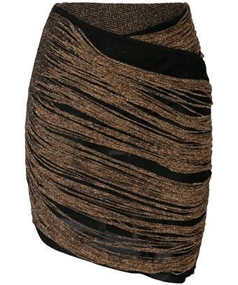 Balmain Women's  Brown/black Viscose Skirt
