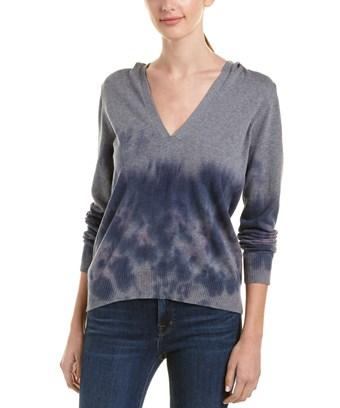 Chaser Deep Cut Sweater In Blue