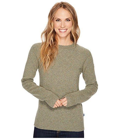 Fjall Raven Övik Re-wool Sweater In Frost Green