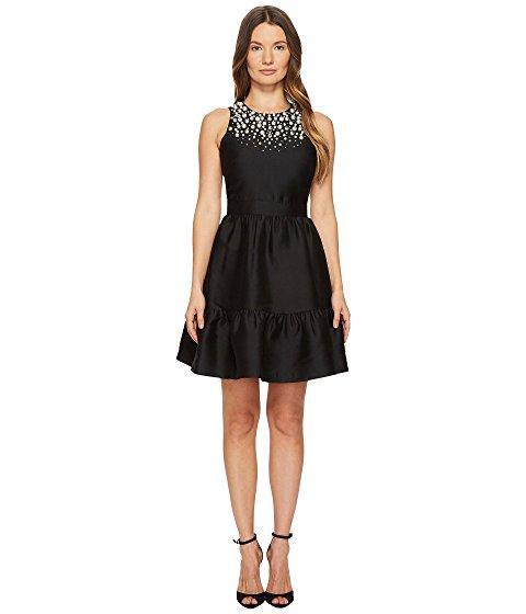 Kate Spade Pearl Embellished Mikado Dress In Black