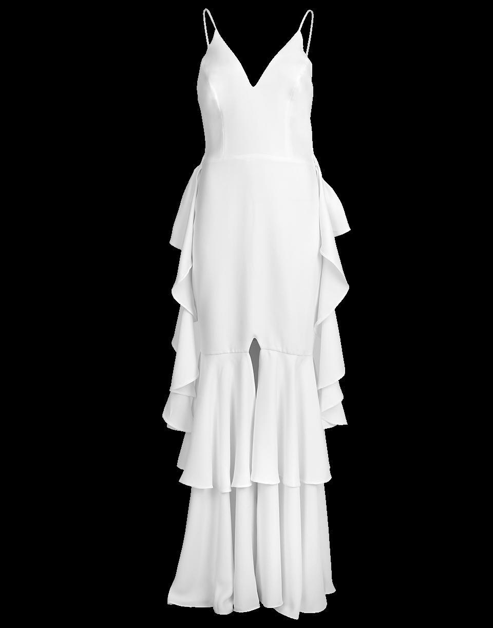 Patbo Ruffle Maxi Dress In White