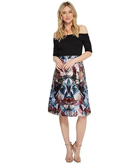 Ted Baker Keris Mirrored Minerals Tulip Dress In Black