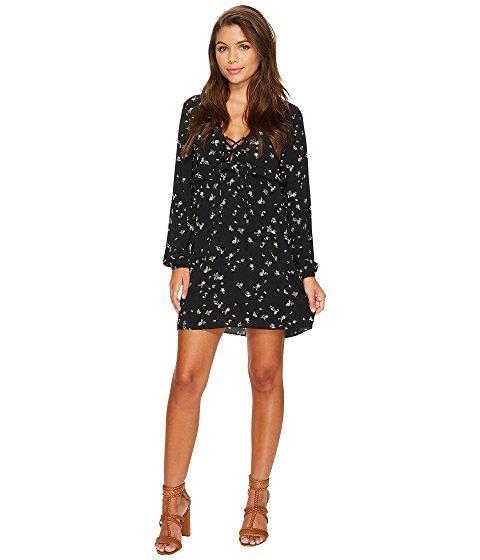 Tavik The Upside Long Sleeve Mini Dress In Winston Floral Midnight