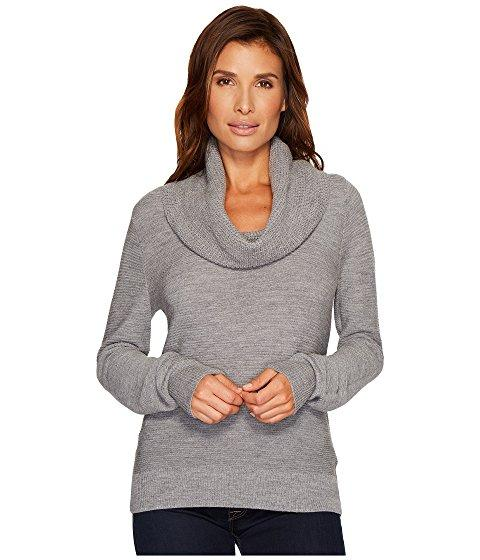 Pendleton Textured Drape Neck Pullover In Soft Grey Heather