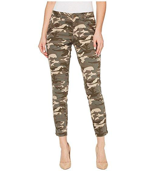 Jag Jeans Ryan Skinny In Olive Camo Printed Twill With Side Zippers, Olive