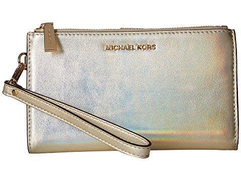 Michael Michael Kors Double-zip Wristlet, Pale Gold