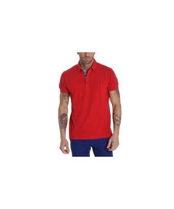 Etro Men's  Red Cotton Polo Shirt