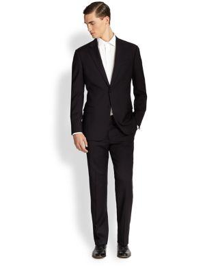 Armani Collezioni Core Gio Two-button Suit In Navy