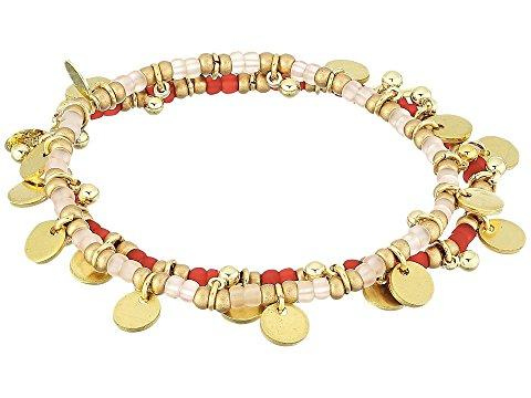 Shashi Lilu Ball Disc Set Of 2 Bracelets In Pink/red