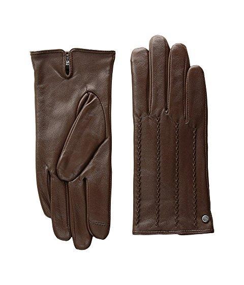 Lauren Ralph Lauren Modern Hand Crafted Points Touch Glove In Field Brown