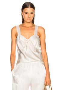 Raquel Allegra Tie Front Top In White
