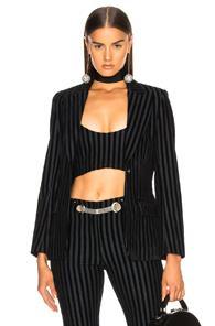 Miaou Casino Jacket In Black,blue,stripes