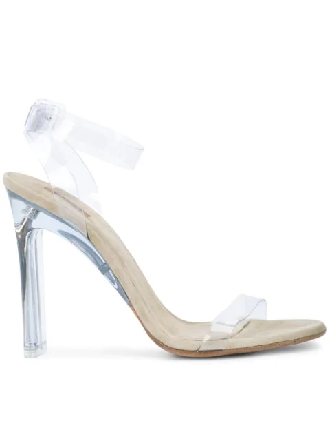 Yeezy Transparent Sandals (Season 7) In Clear