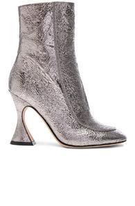 Sies Marjan Emma Laminated Leather Crinkle Boot In Gunmetal