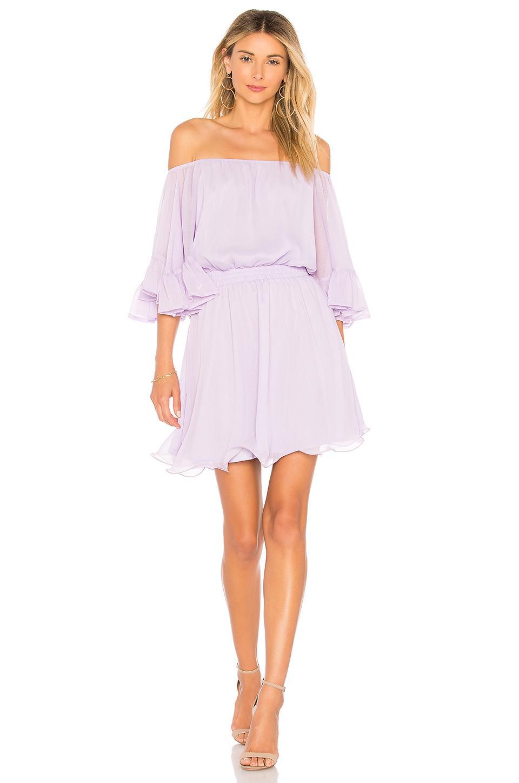 Endless Rose X Revolve Ruffle Mini Dress In Lavender