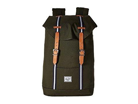 Herschel Supply Co. Retreat Mid-volume In Forest Green/veggie Tan Leather