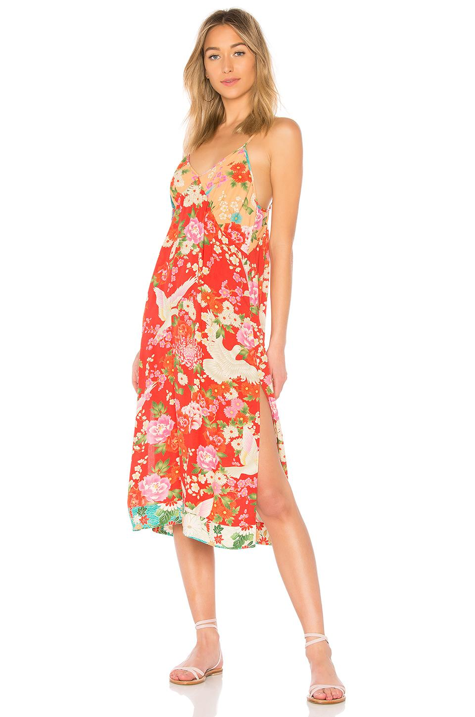 Spell & The Gypsy Collective X Revolve Delilah Patchwork Slip Dress In Red