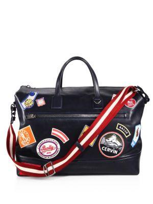 Bally Tammi Weekender Duffle Bag In Blue
