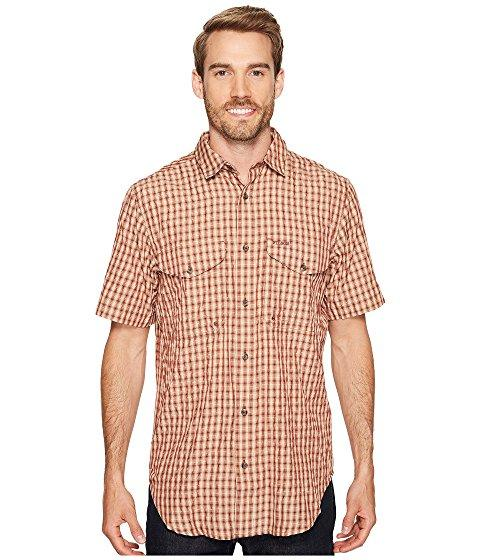 Filson Twin Lakes Short Sleeve Sport Shirt In Brick/tan Plaid