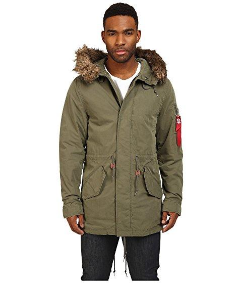Alpha Industries J-4 Fishtail Field Coat In Olive