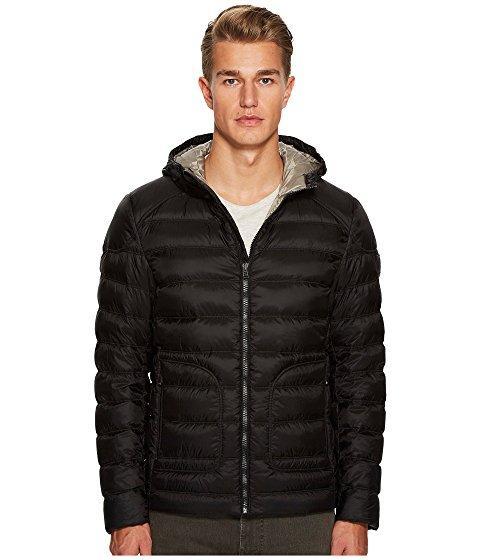 Belstaff Fullarton Lightweight Down Proof Nylon Hooded Jacket In Black