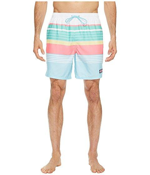 Vineyard Vines Boca Bay Stripe Chappy Swim Trunks In Sea Splash