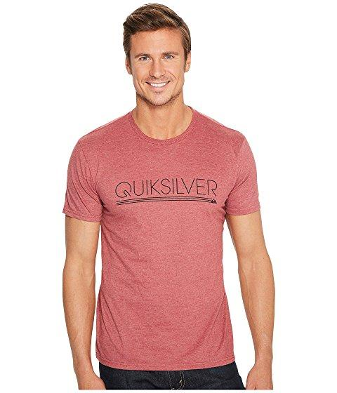 Quiksilver Thin Mark Tee Shirt In Pomegranate Heather