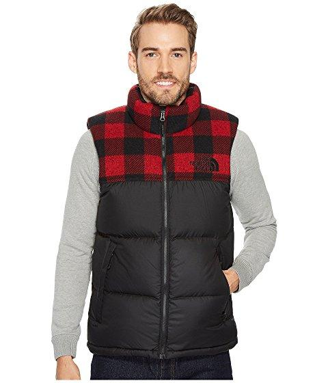 77414d1c5 Novelty Nuptse Vest, Tnf Black/Cardinal Red Grizzly Print