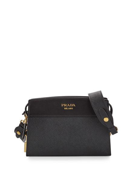 5b5b272e7c Prada Esplanade Saffiano Crossbody Bag In Black