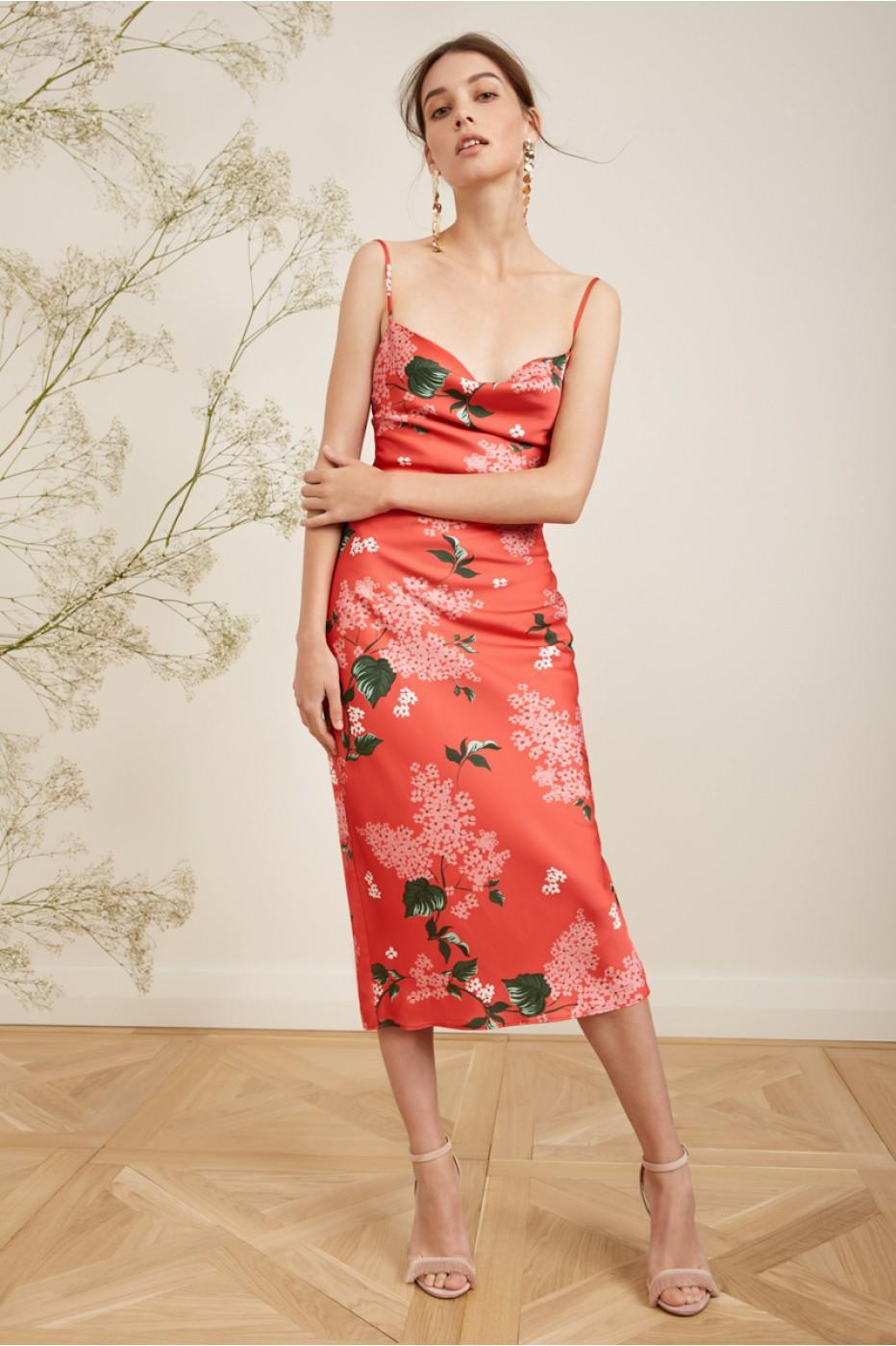96c1c5eaa469 Keepsake This Moment Slip Dress In Pop Red Floral | ModeSens