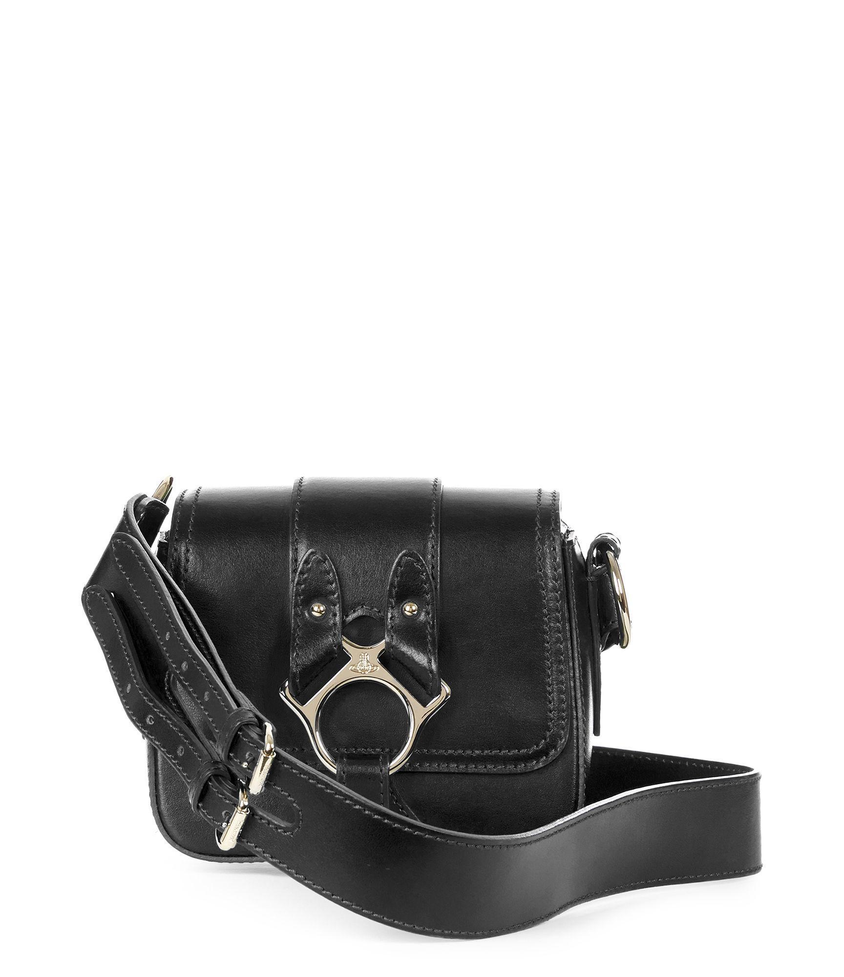 f43231f236 Vivienne Westwood Small Folly Saddle Bag 43030021 Black