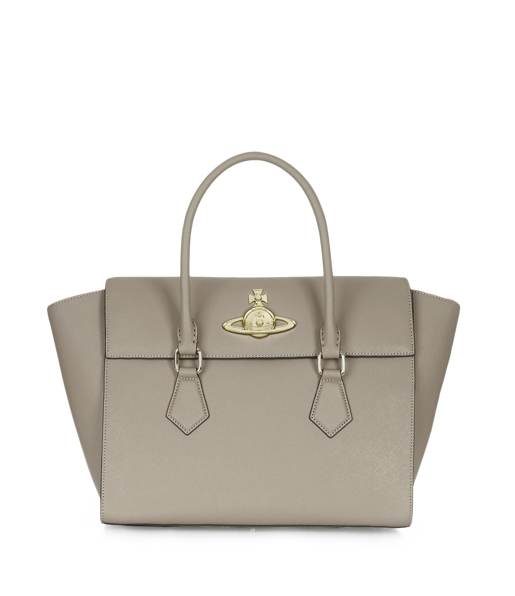 8567d74039e6 Vivienne Westwood Large Pimlico Handbag 42030036 Taupe | ModeSens