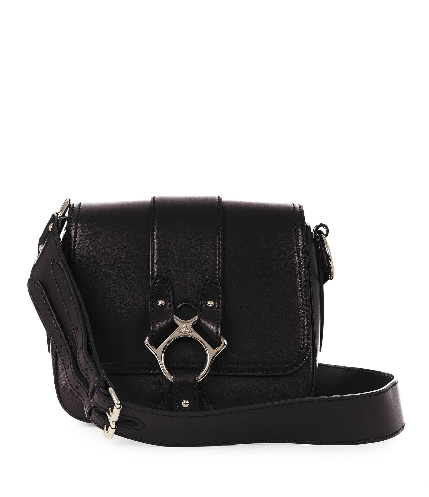 Vivienne Westwood Large Folly Saddle Bag 43050014 Black