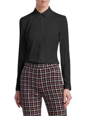 Akris Punto Eyelet Collar Shirt In Black