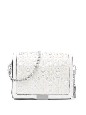 dd2c2b07da40 Michael Michael Kors Jade Medium Gusset Convertible Clutch In Optic White