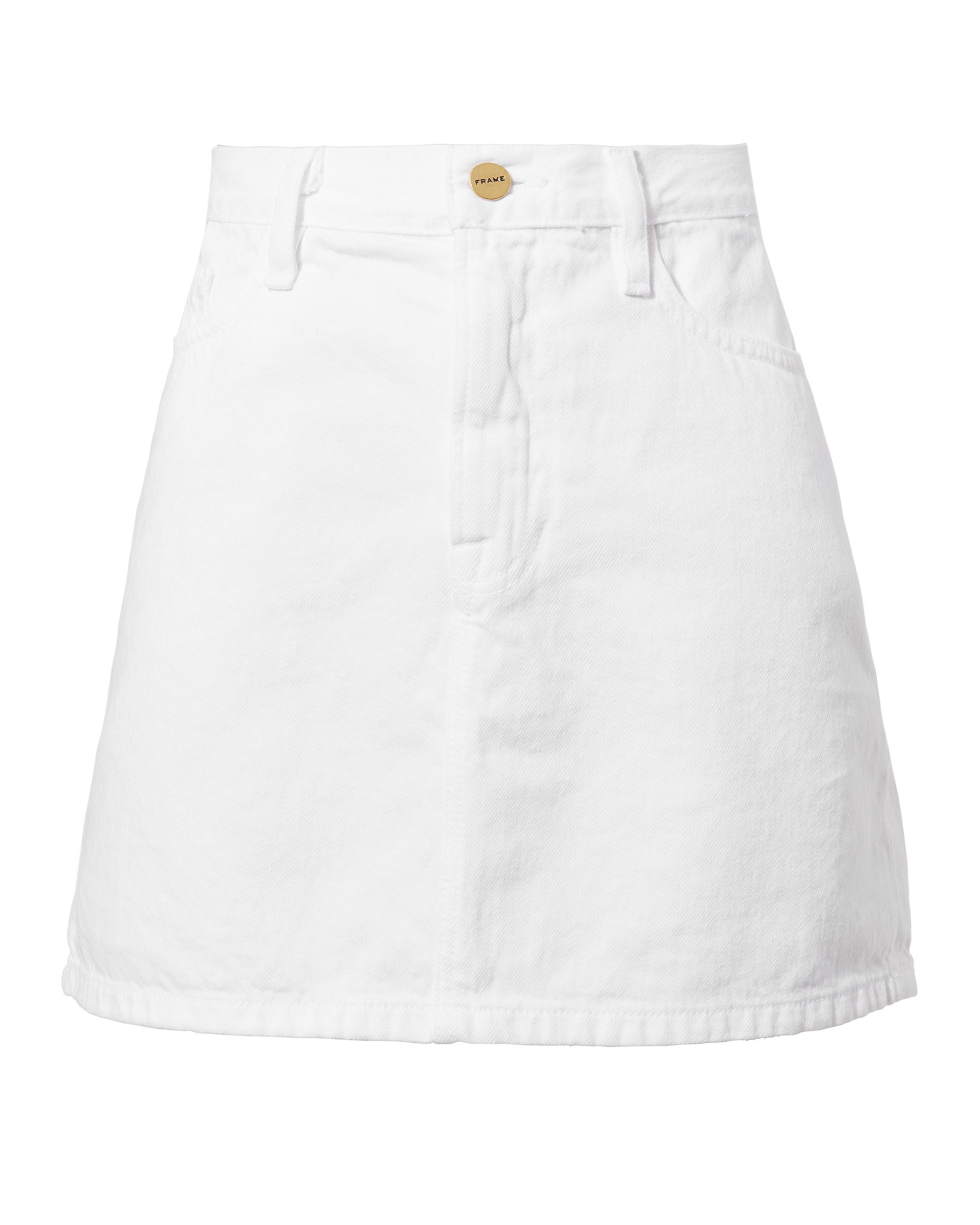 Frame Le White Mini Skirt