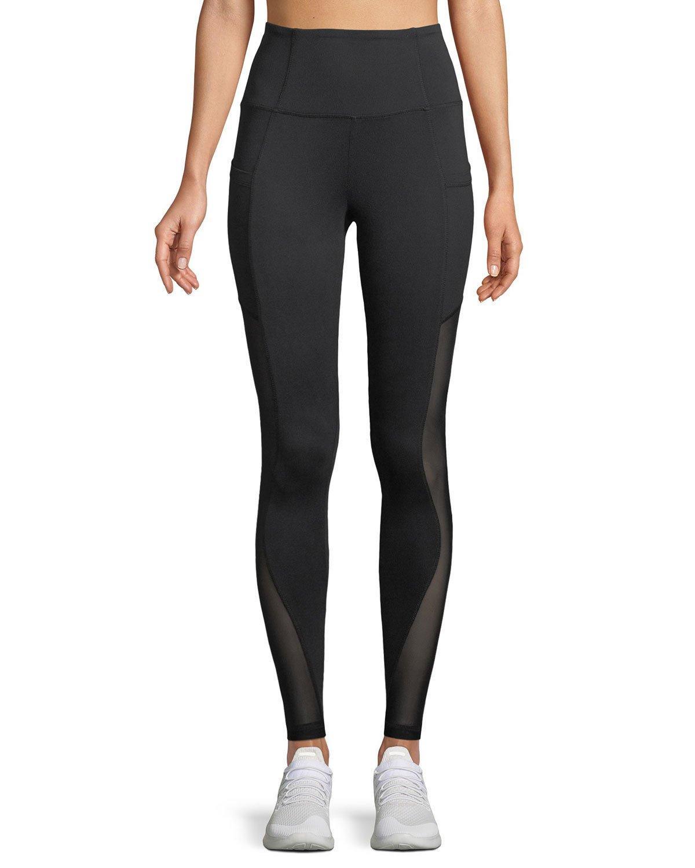 The Balance Collection Vanna Mesh-side Pocket Leggings In Black