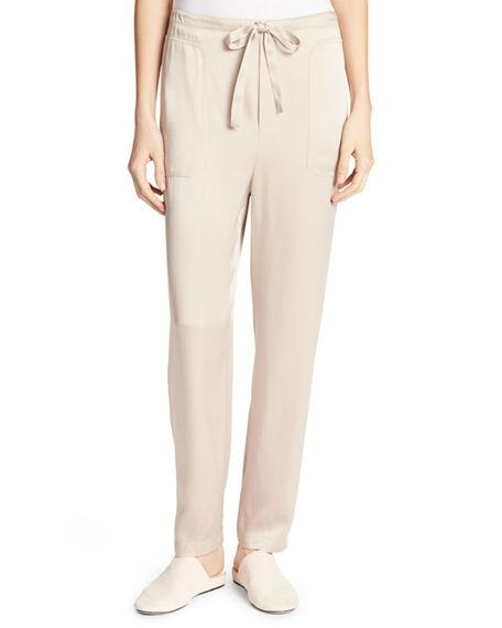 Vince Drawstring-waist Relaxed-leg Pants In Stucco