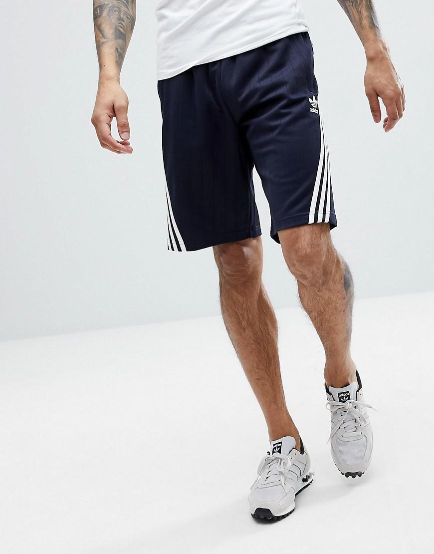 Adidas Originals Nova Shorts With Pinstripe In Navy Ce4849 - Navy