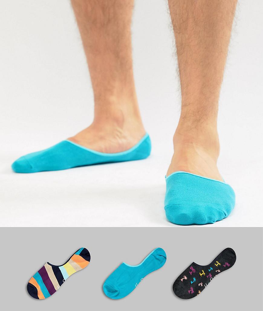Happy Socks Sneaker Liners 3 Pack - Multi
