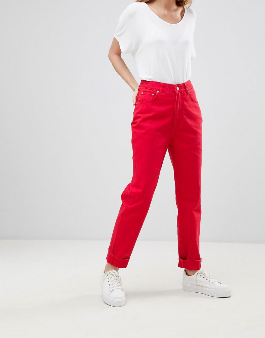 Cheap Monday Mom Jean - Red