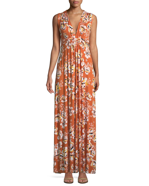 Rachel Pally Long Sleeveless Zahara-print Dress, Plus Size In Zahara Print