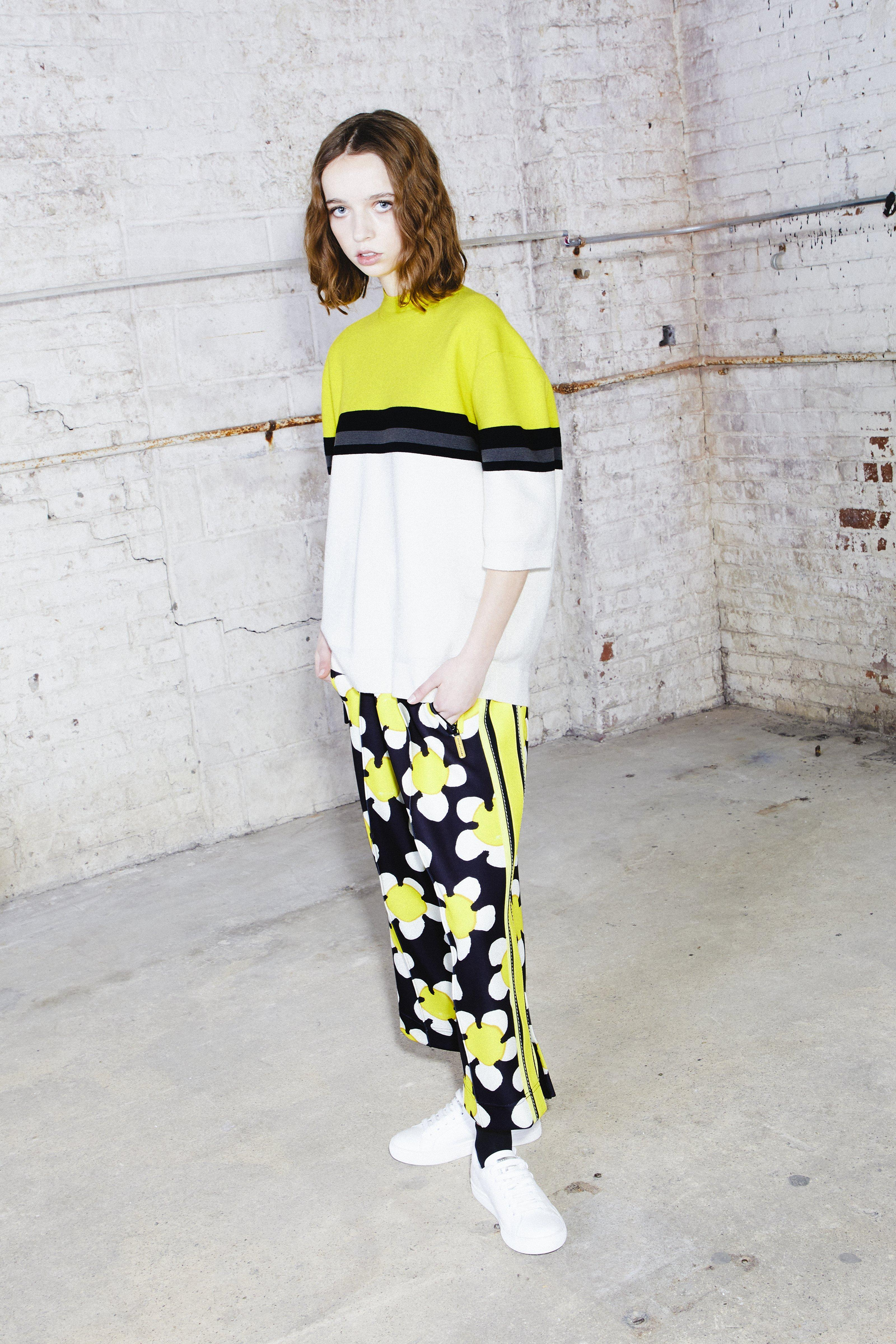 Marc Jacobs 3/4 Length Track Pants In Yellow Multi