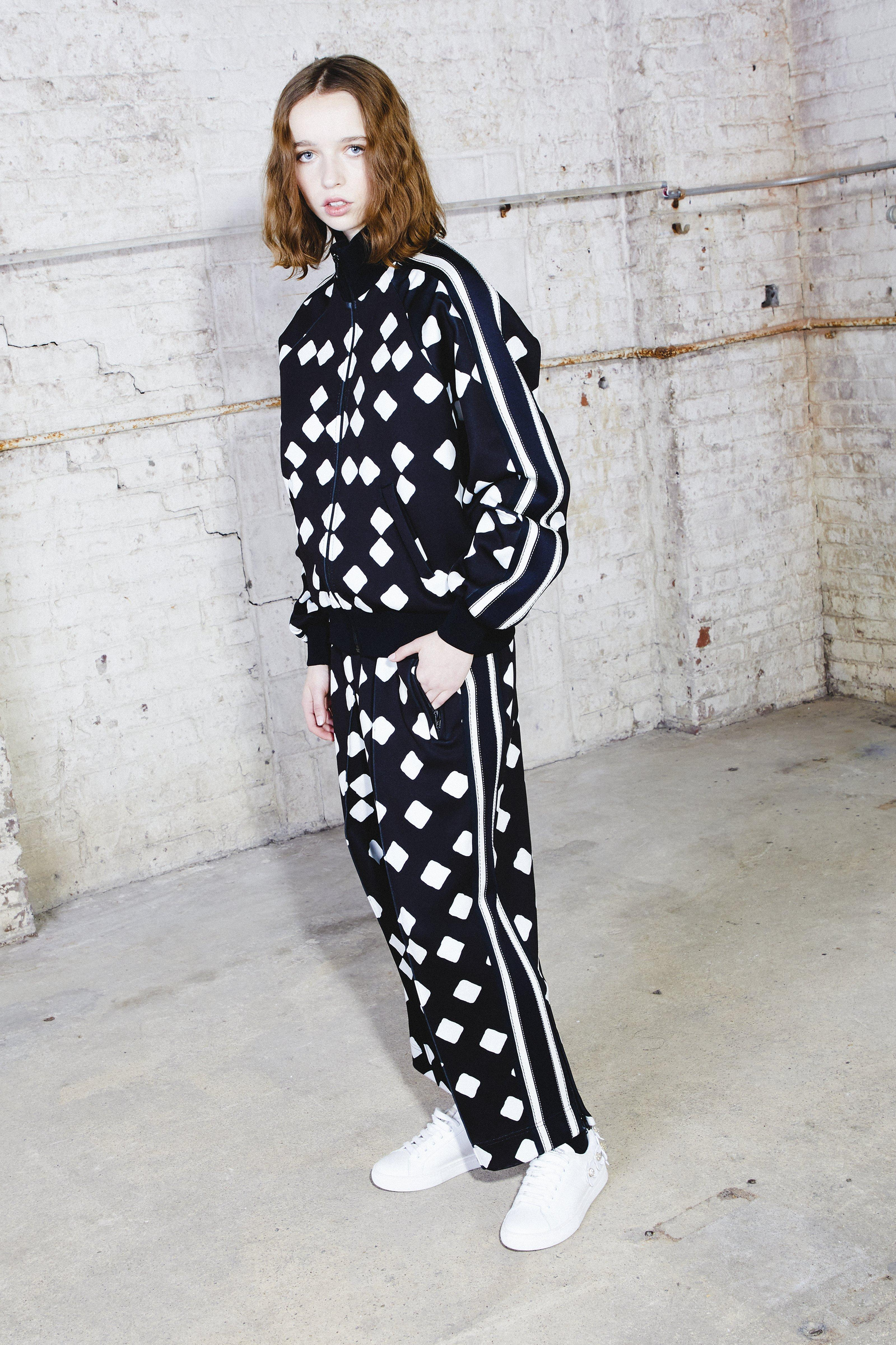 Marc Jacobs Printed Track Jacket In Black/white