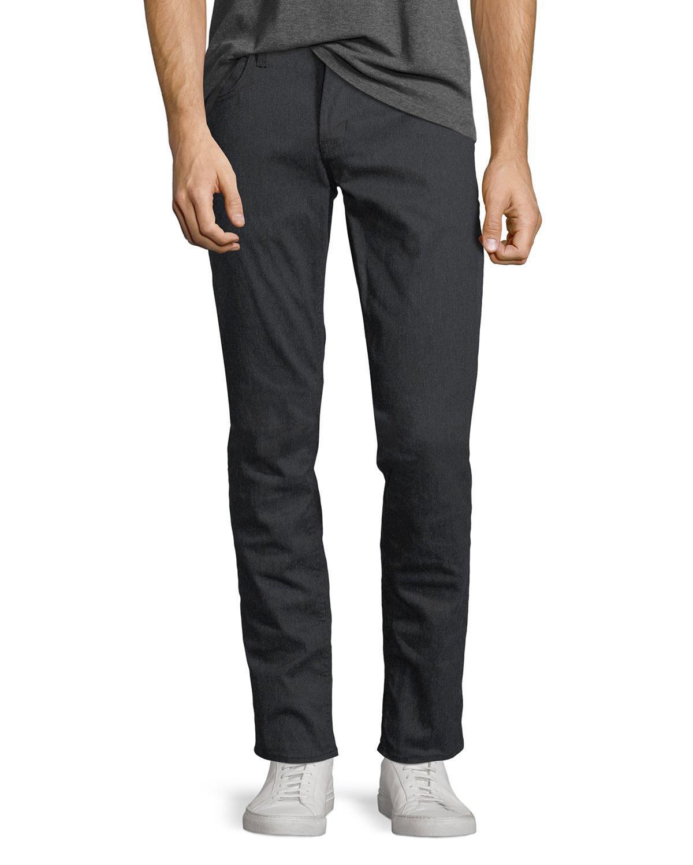 Hudson Blake Drafted Slim-straight Jeans In Dark Gray