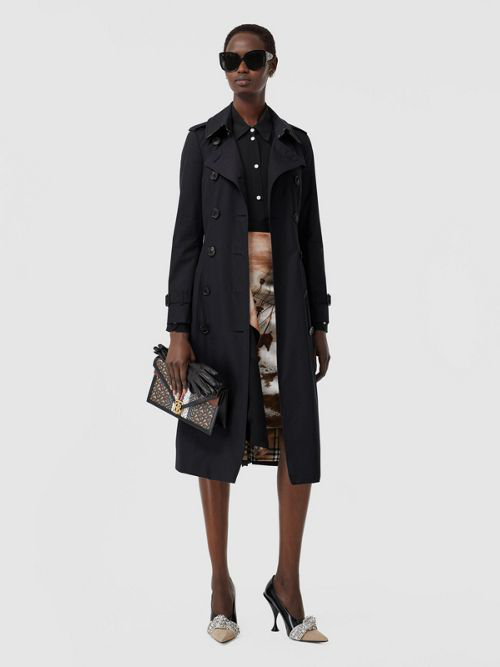 Burberry The Mid-length Chelsea Heritage Trench Coat In Midnight